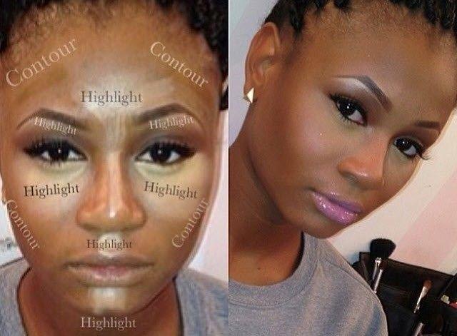 contouring peau noire > contouring